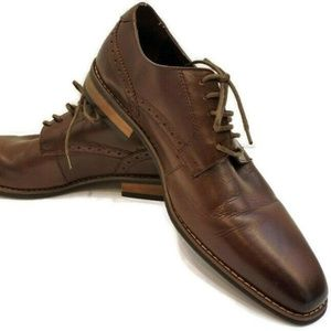 Steve Madden 10.5 Mooney Brown Leather Oxfords